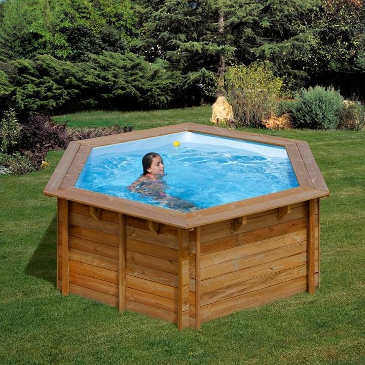 Piscina desmontable gre lili circular de madera de pino for Precios de piscinas desmontables