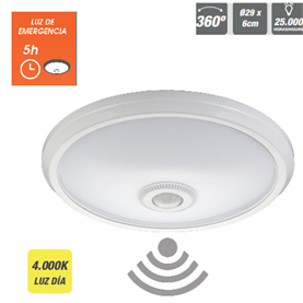 Aplique de superficie Led  con sensor y luz de emergencia