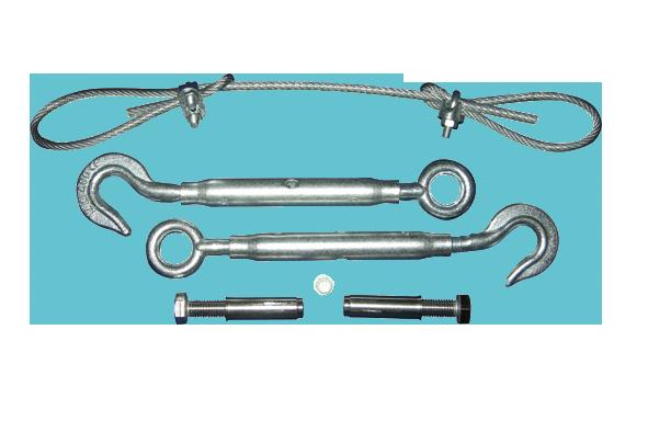 Cable de acero y accesorios electro bombas san vicente for Tensor cable acero