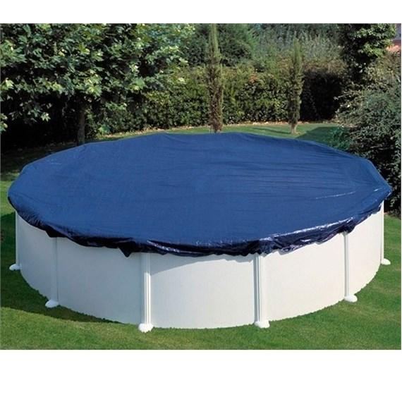 Cubierta de invierno gre para piscina redonda - Manta de invierno para piscina ...