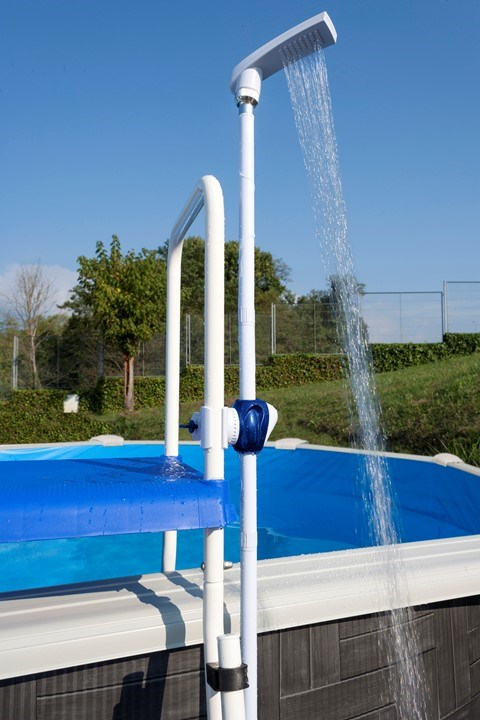 Ducha para piscina sobre suelo dpe10 for Duchas para piscina