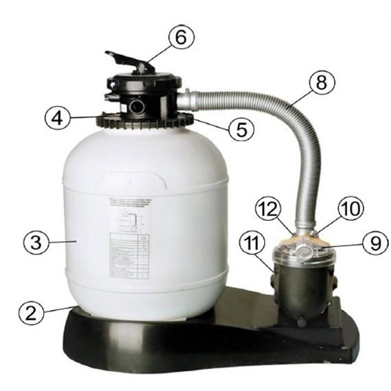 Filtro de arena gre ar710 electro bombas san vicente for Arena para filtro de piscina