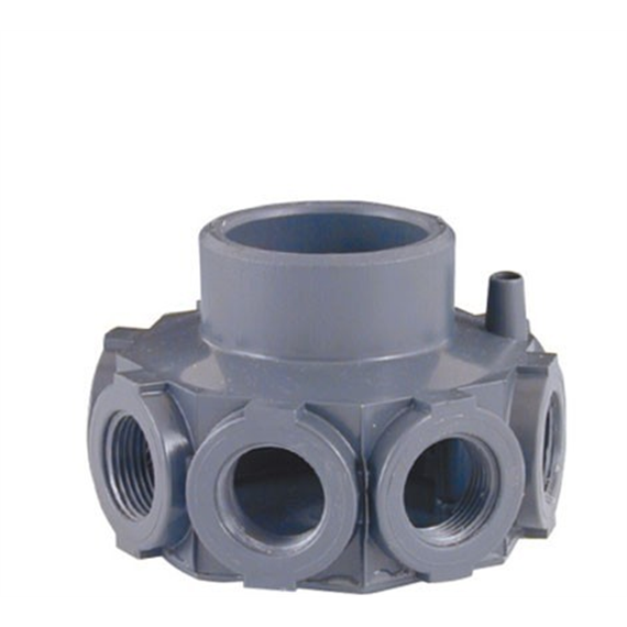 Cabezal colector pvc para filtros para brazos de for Filtro arena piscina