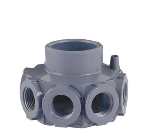 Cabezal colector pvc para filtros para brazos de for Repuestos de piscinas
