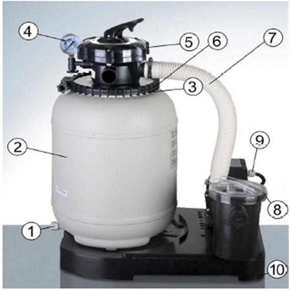 repuestos del filtro arena gre fa6030