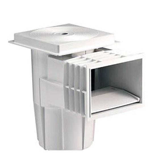 Skimmer astralpool modelo boca standard con tapa cuadrada for Tapa skimmer piscina